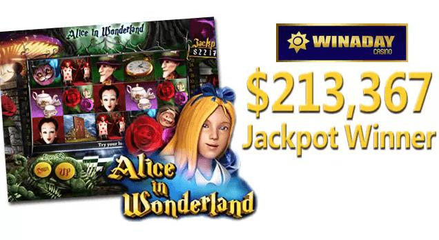 Alice In Wonderland WinADay Casino Jackpot