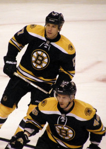 Boston Bruins Milan Lucic David Krejci