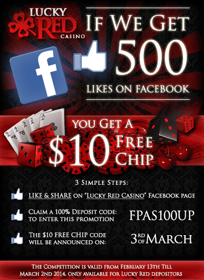 Lucky Red Facebook Promotion