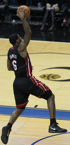 Miami Heat LeBron James Dunking