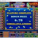 Triple Bonus Bucks Feature Guarantee Win